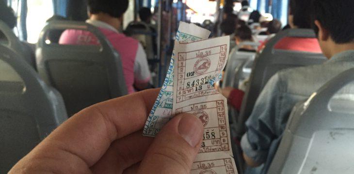 Mit dem Bus durch Bangkok