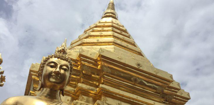 Friedliche Tempel und wilde Wasser
